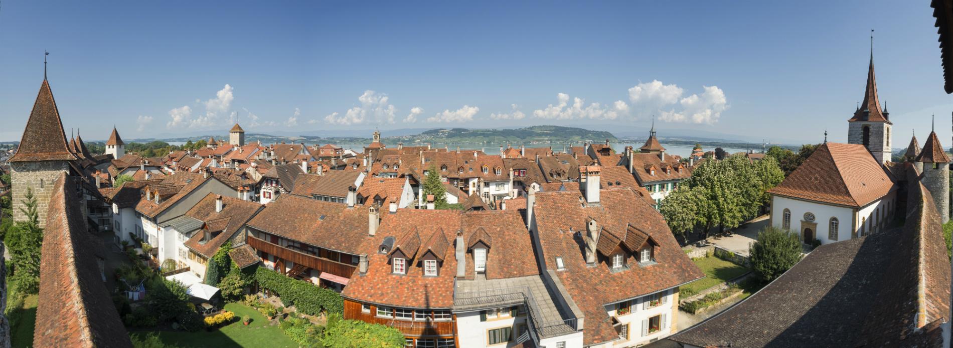 Murten, vista panoramica dalle mura