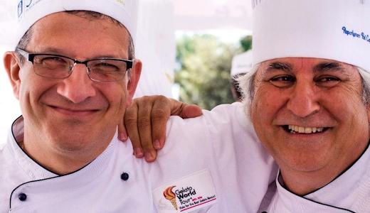 i Mastri gelatai Francesco Dioletta e Enzo Crivella