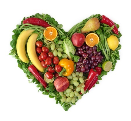 9766086 - heart of fruits and vegetables